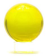 Шар хрустальный на подставке желтый (6 см)