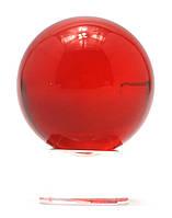Шар хрустальный на подставке красный (4 см)