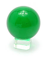 Шар хрустальный на подставке зеленый (5 см)