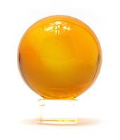 Шар хрустальный на подставке оранжевый (6 см)