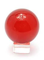 Шар хрустальный на подставке красный (6 см)