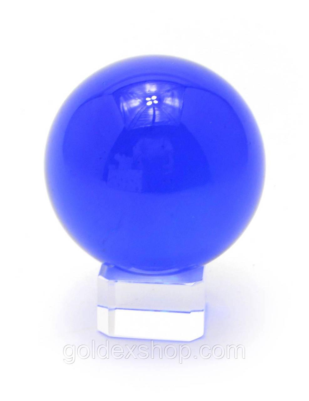 Шар хрустальный на подставке синий (5 см)