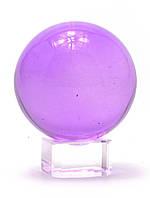 Шар хрустальный на подставке фиолетовый (5 см)