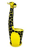 """Горшок для цветов керамический """"Жираф"""""""