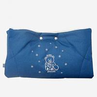 Муфта для рук на коляску и санки Серо-голубой
