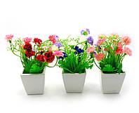 Цветы в горшке (16х7,х7 см)