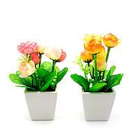 Цветы в горшке (17,5х7х7 см)