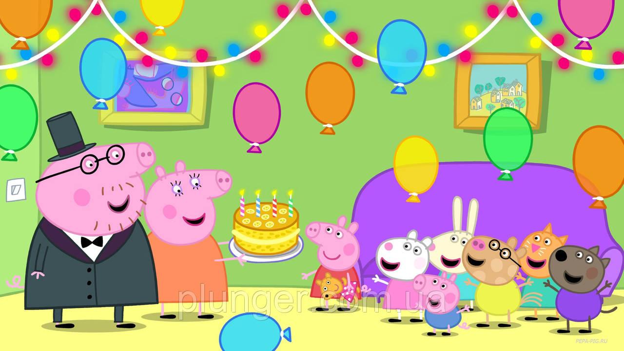 """Вафельная картинка для торта """"Свинка Пеппа"""", (лист А4)"""