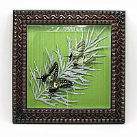 "Бабочки в рамке ""Лист"" (2 шт.) (30х30 см)"