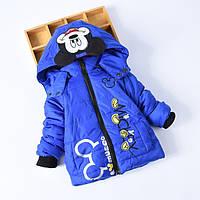 Детская зимняя куртка Микки Маус синего цвета