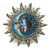 "Зеркало мозаичное ""Солнце и Луна"" (d-20 cм)"