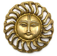 Панно Солнце из бронзы (диаметр - 10 см)