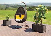 Качеля кокон Йо-Йо  Роял коричн, мебель для сада, мебель для дома, плетеная качеля, садовая качель