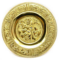"Тарелка настенная бронзовая ""Танцующий Шива"" (d-14 см) (Wall Plate Natraj 6"")"