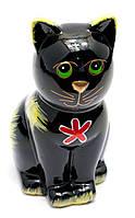 """Керамічна скарбничка """"Кіт"""" чорна (16,5х10х7,5 см)"""