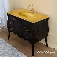 Мебель для ванных комнат и зеркала Marsan Тумба напольная для ванной комнаты без раковины Marsan Dianne 1050 чёрный, фурнитура хром