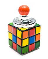 """Пепельница с крышкой керамическая """"Кубик Рубика"""" (16х8,5х8,5 см)"""
