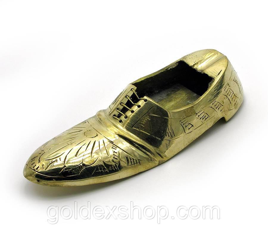 """Пепельница туфля бронзовая (13,5х5х3,5 см) (5"""")"""
