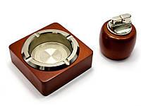 Подарочный набор (Пепепельница с зажигалкой) (22х17х8 см)