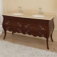 Мебель для ванных комнат и зеркала Marsan Тумба напольная для ванной комнаты без раковины Marsan Dianne 1600 венге, фурнитура золото
