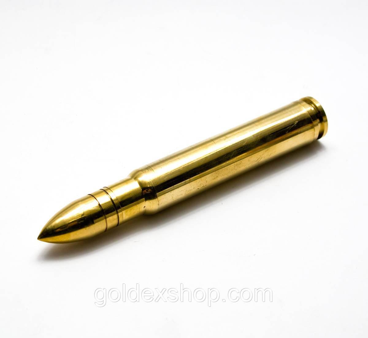 """Трубка курительная бронзовая """"Пуля"""" (13.5х1,6х1,16 см)"""