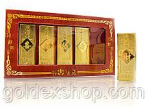 Золотые слитки сувенирные (набор 5 шт) (16,5х9х2 см)