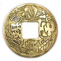 Монета с иероглифами бронзовая (d-12 см)