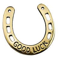 """Подкова бронзовая """"Good luck"""" (10,5х10,5 см)"""