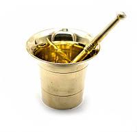 Ступка с пестиком бронза (d-10,5 h-9,5 см )