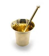 Ступка с пестиком бронза (d-7 h-6.5 см )