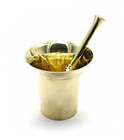Ступка с пестиком бронза (d-8,5 h-8,5 см )