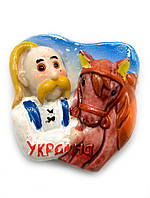 """Магнит """"Козак с конем"""" (5х5,5 см)"""