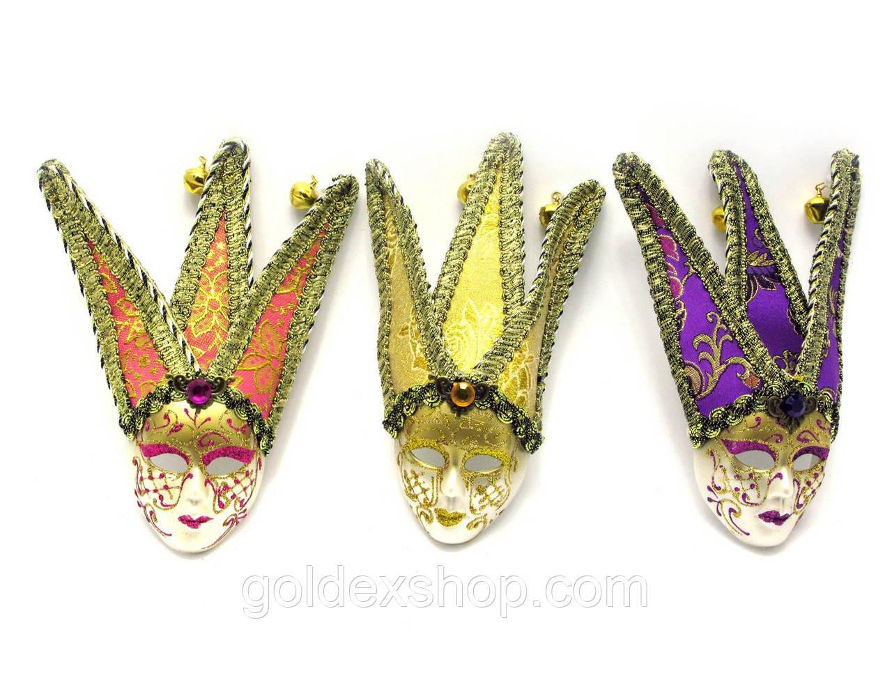 Маска карнавальная венецианская декоративная (18,5х6,5х3,5 см)