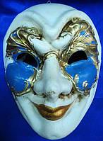 Маска карнавальная Венецианская для лица из папье-маше (24,5см)