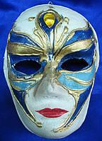 Маска карнавальная Венецианская папье-маше (25см)