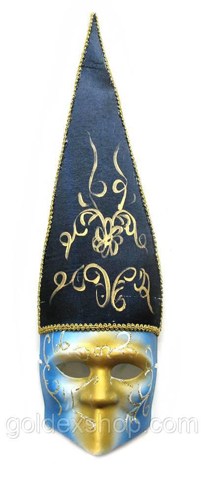 Маска карнавальная Венецианская для лица из папье-маше (62см)