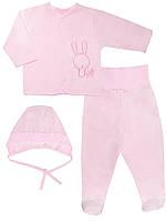 Набор: комбинезон и шапочка (Розовый)