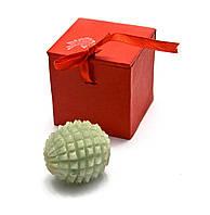 Массажер нефритовый шарик ёжик в футляре (10,5х4,5х5,5 см)
