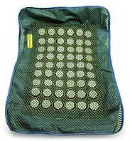 Массажный чехол на подушку с круглыми нефритовыми вставками (51х38 см)