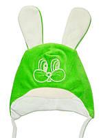 Велюровая детская шапочка (Зеленый)