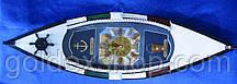 "Ключница ""Лодка с часами"" (49,5х15х10 см) (J49615A-HM496152-BS)"