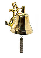 Колокол рында с якорем бронза (28х12х14,5 см)