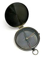 Компас с крышкой бронза (d-8,h-1,5 см)