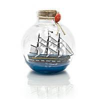 Парусник в бутылке (11х10х10 см)