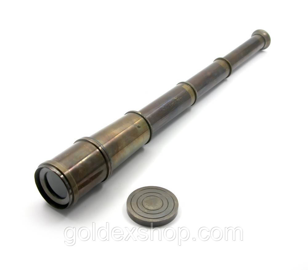 "Подзорная труба антик (41х4 см) (Brass Telescope 20"" Black)"