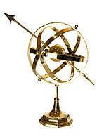 """Сфера на подставке """"Гороскоп"""" бронза (45х24,5х35 см)"""