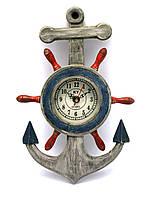 Якорь с часами (33,5х21х4,5 см)