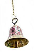 Бронзовий дзвін з малюнком на ланцюгу (діаметр 12 см)