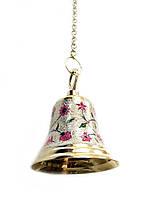 Бронзовий дзвін з малюнком на ланцюгу (Діаметр 14 см)