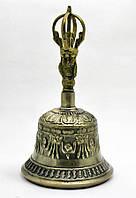 Колокол чакровый бронзовый (d-11,5,h-19 см) (Непал) ()Bell Embose No.4)